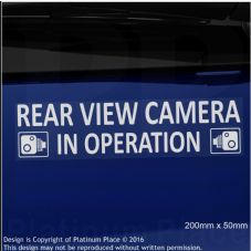 1 x Rear View Camera In Operation Stickers-EXTERNAL CCTV Signs-Van,Taxi,Car,Cab